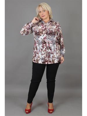 Блузка NadiN. Цвет: серый, бордовый