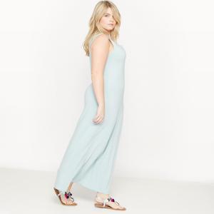 Платье длинное без рукавов CASTALUNA. Цвет: голубой