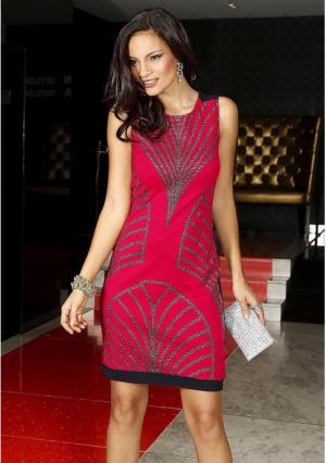 Платье MY STYLE. Цвет: красный/черный, черный