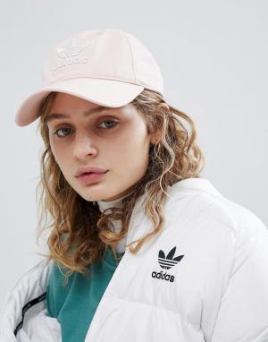 Adidas Originals Розовая кепка с логотипом adicolor. Цвет: розовый