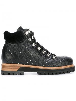 Стеганые ботинки Le Silla. Цвет: чёрный