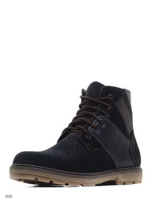 Ботинки зимние мужские. натуральнвя кожа ZET. Цвет: синий
