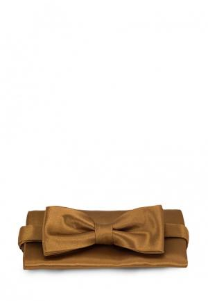 Комплект бабочка и платок Greg. Цвет: золотой