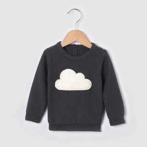 Пуловер с круглым вырезом, из тонкого трикотажа La Redoute Collections. Цвет: антрацит
