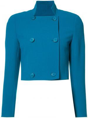 Укороченная куртка Akris. Цвет: синий