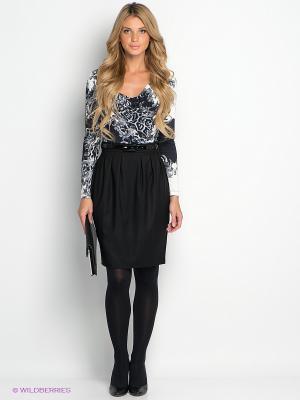Платье Remix. Цвет: черный, молочный