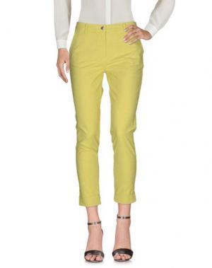 Повседневные брюки BARONI. Цвет: кислотно-зеленый