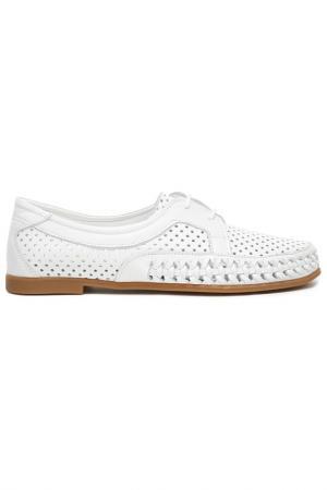 Туфли летние Sandm. Цвет: белый