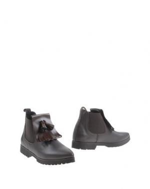 Полусапоги и высокие ботинки PENELOPE. Цвет: темно-коричневый