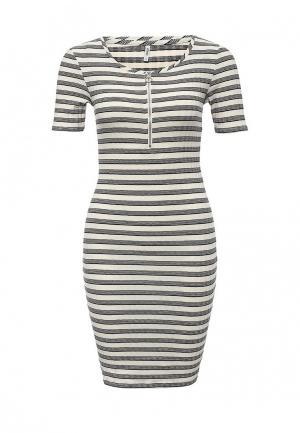 Платье Only. Цвет: черно-белый