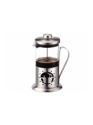 Чайник-заварник френч-пресс 0,35 л, сохраняет аромат напитка Peterhof. Цвет: серебристый