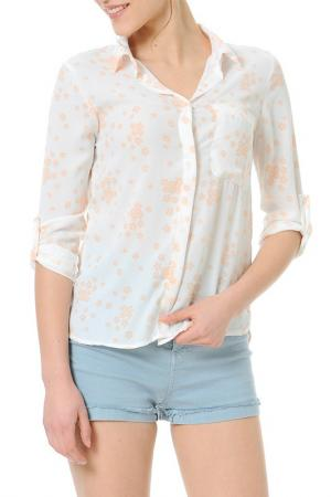 Рубашка Dewberry. Цвет: бежевый