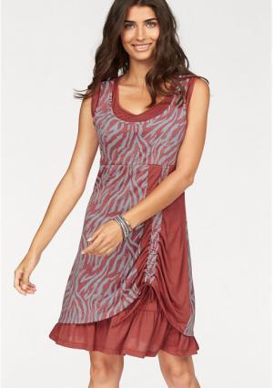 Платье BOYSENS BOYSEN'S. Цвет: красный/серый, сине-серый, черный/серый