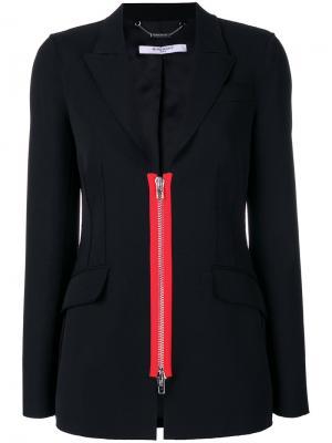 Пиджак с декоративной молнией Givenchy. Цвет: чёрный
