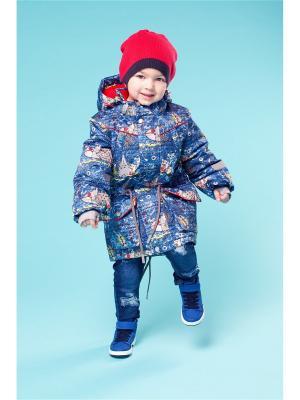 Куртка Oldos. Цвет: серо-голубой