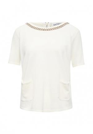 Блуза Passioni. Цвет: белый