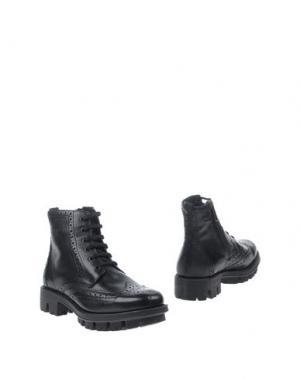Полусапоги и высокие ботинки ANTICA CUOIERIA. Цвет: черный
