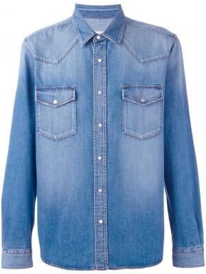 Джинсовая рубашка Ami Alexandre Mattiussi. Цвет: синий