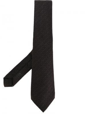 Трикотажный галстук Kiton. Цвет: коричневый