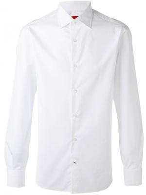 Классическая рубашка Isaia. Цвет: белый