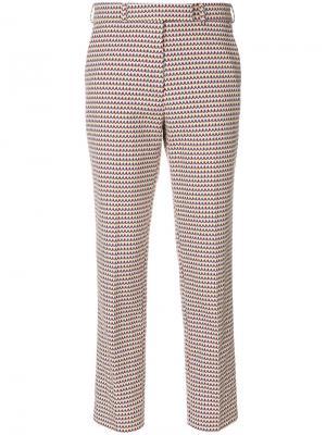Укороченные брюки с вышивкой Etro. Цвет: многоцветный