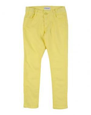 Джинсовые брюки PINKO UP. Цвет: желтый
