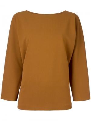 Блузка с расклешенными рукавами Alberto Biani. Цвет: коричневый