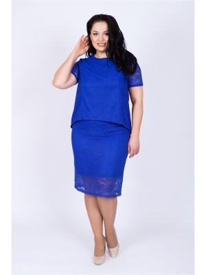 Блузка SOFIANA. Цвет: синий