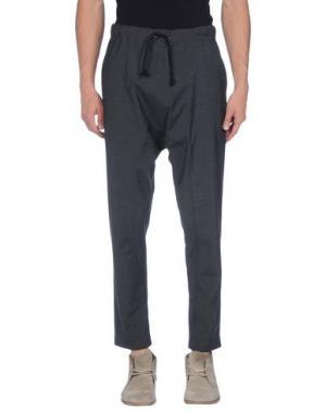 Повседневные брюки MESSAGERIE. Цвет: стальной серый