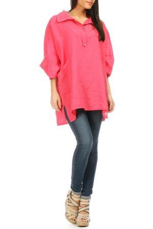 Рубашка Laklook. Цвет: розовый