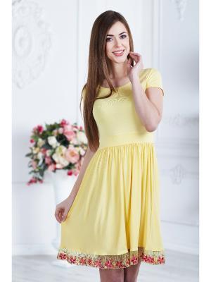 Платье женское AnGela. Цвет: желтый