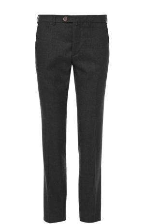 Шерстяные брюки прямого кроя Sartoria Tramarossa. Цвет: темно-серый