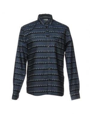 Джинсовая рубашка ANERKJENDT. Цвет: синий