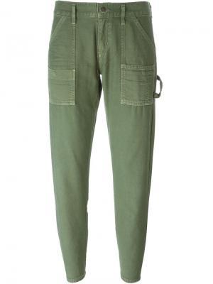 Зауженные к низу джинсы Citizens Of Humanity. Цвет: зелёный