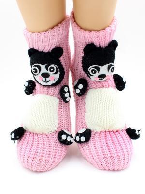 Носки-тапочки HOBBY LINE. Цвет: белый, черный, розовый