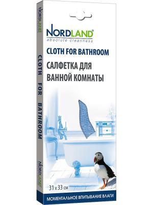 Nordland салфетка для ванной комнаты, 31*33 см.. Цвет: голубой