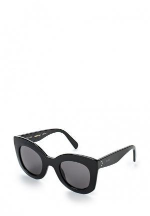 Очки солнцезащитные Celine. Цвет: черный