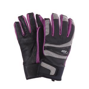 Перчатки сноубордические женские  Gem Grey Pow. Цвет: черный,серый