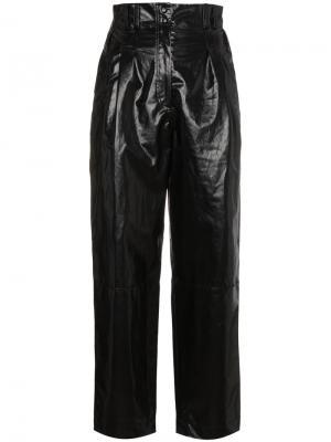 Укороченные брюки Coated Philosophy Di Lorenzo Serafini. Цвет: чёрный