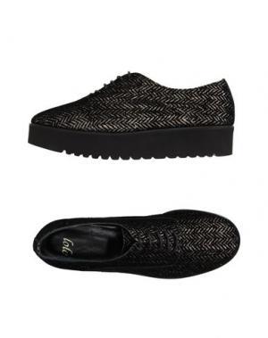 Обувь на шнурках LOLO. Цвет: черный