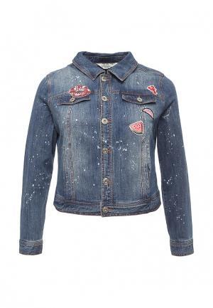 Куртка джинсовая Studio Untold. Цвет: синий