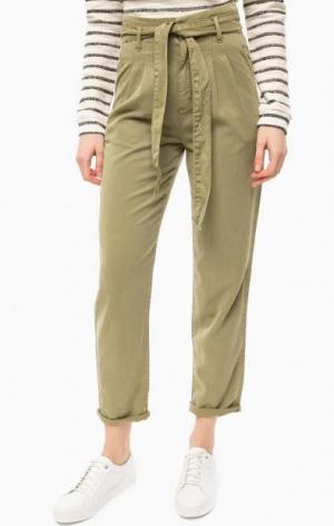 Зауженные брюки цвета хаки s.Oliver. Цвет: хаки