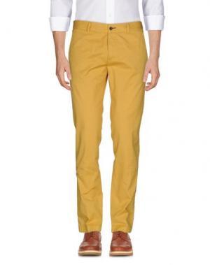 Повседневные брюки PAOLONI. Цвет: желтый