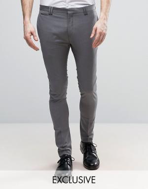 Noak Укороченные суперузкие брюки. Цвет: серый