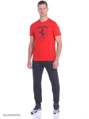 Футболка Ferrari Big Shield Tee Puma. Цвет: красный