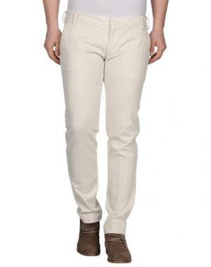 Повседневные брюки ENTRE AMIS. Цвет: слоновая кость
