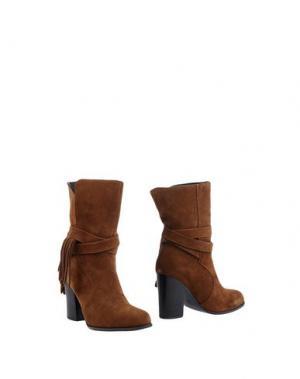 Полусапоги и высокие ботинки BIBI LOU. Цвет: хаки