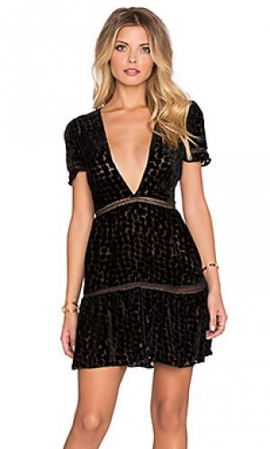 Платье virgo STONE_COLD_FOX. Цвет: черный