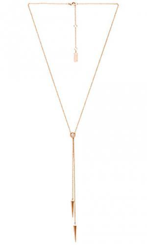 Двойное ожерелье-лариант Melanie Auld. Цвет: металлический золотой