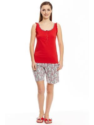 Пижама с шортами RELAX MODE. Цвет: серый
